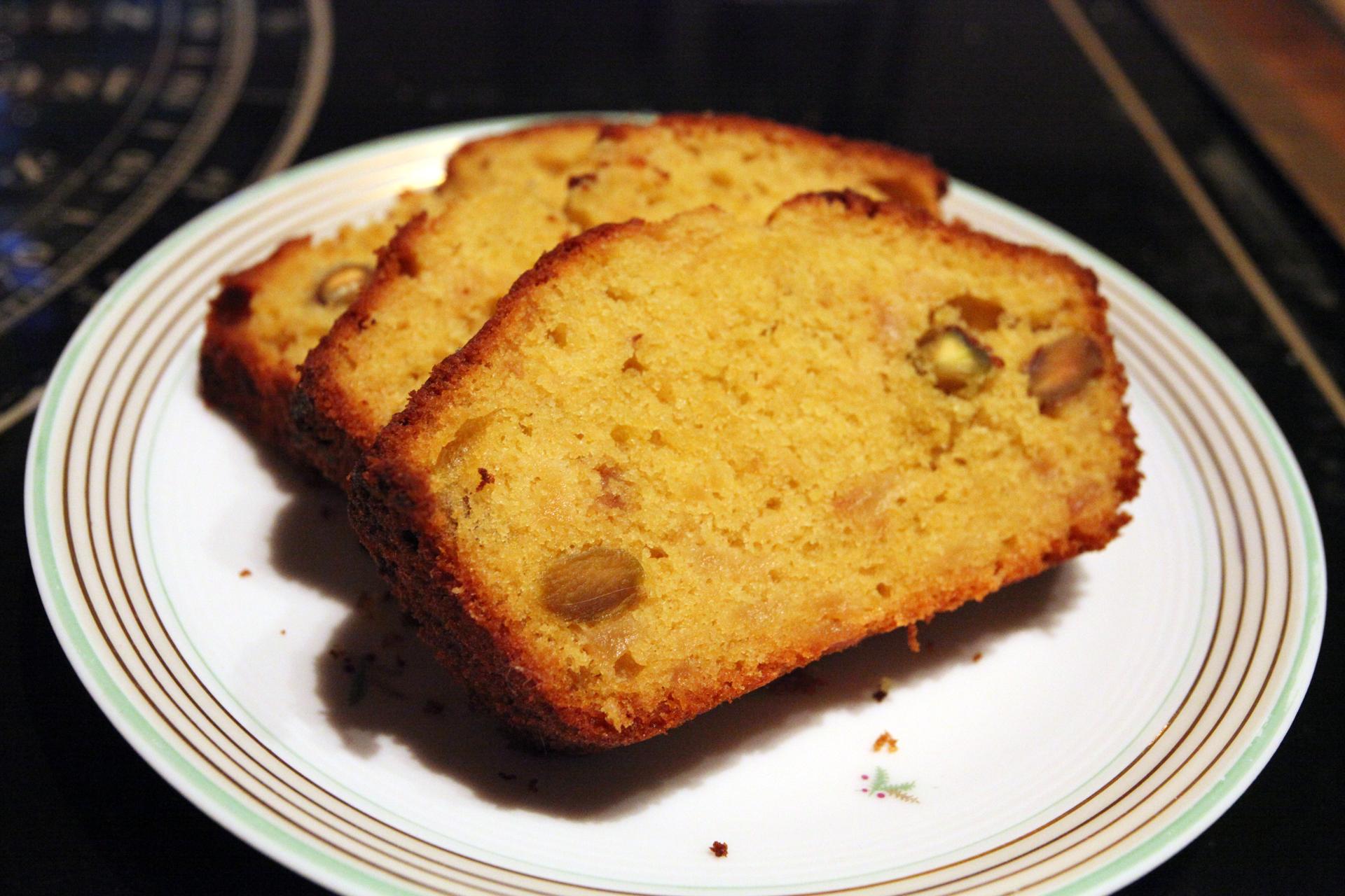 Cake moelleux aux pommes et pistaches recette en vid o for La cuisine de monica