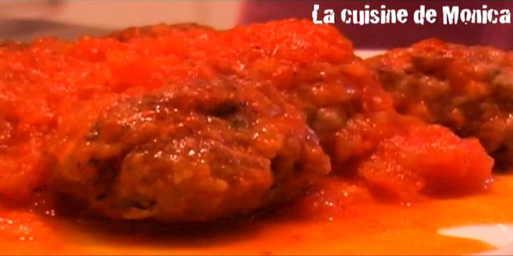 Boulettes au coulis de tomates la cuisine de monica - La cuisine de monique ...