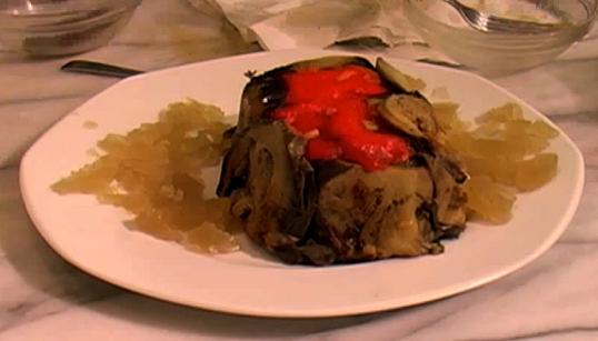 Terrine d 39 aubergines et de poivrons la cuisine de monica for La cuisine de monica
