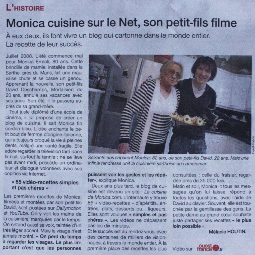 La cuisine de monica dans la presse la cuisine de monica for La cuisine de monica