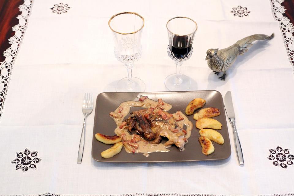 Faisan aux pommes recette en vid o la cuisine de monica for La cuisine de monica