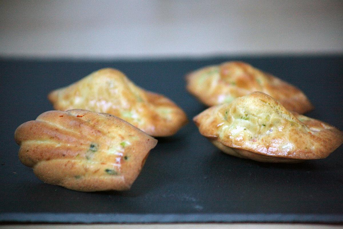 Madeleines carottes poireaux parfum es la menthe for La cuisine de monica