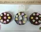 gâteaux aux 3 chocolats et praliné croquant